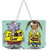 Not Gay Weekender Tote Bag