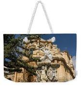 Noto Sicilian Baroque - Church Of San Domenico On A Bright Sunny Day Weekender Tote Bag