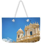Noto, Sicily, Italy - San Nicolo Cathedral, Unesco Heritage Site Weekender Tote Bag