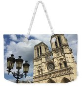 Notre Dame And Lamppost Weekender Tote Bag