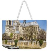 Notre Dame And The Seine Weekender Tote Bag
