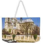 Notre Dame And The Seine Painterly Weekender Tote Bag