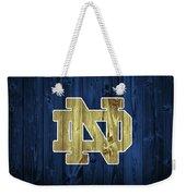Notre Dame Barn Door Weekender Tote Bag