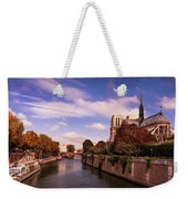 Notre Dame Cathedral And The River Seine - Paris Weekender Tote Bag by Barry O Carroll