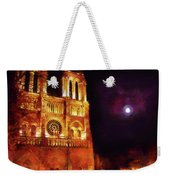 Notre Dame In The Autumn Moonlight Weekender Tote Bag