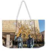 Notre Dame Library And Statue Weekender Tote Bag