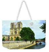 Notre Dame On The Seine Weekender Tote Bag
