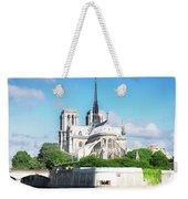 Notre Dame Over Water Weekender Tote Bag