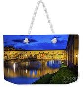 Notte A Ponte Vecchio Weekender Tote Bag