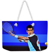 Novak Djokovic Weekender Tote Bag by Paul Meijering
