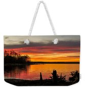 November Sunset Manasquan Reservoir Nj Weekender Tote Bag