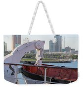 Interior Of Lifeboat Queen Mary Weekender Tote Bag