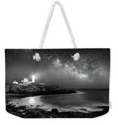 Nubble At Night Weekender Tote Bag