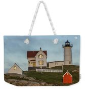 Nubble At Sunset Weekender Tote Bag