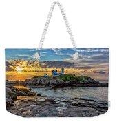 Nubble Light At Sunrise Weekender Tote Bag
