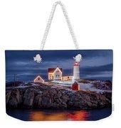 Nubble Light Christmas Weekender Tote Bag