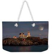 Nubble Light Full Moon Weekender Tote Bag