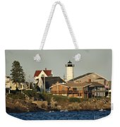 Nubble Light House Beach View Weekender Tote Bag