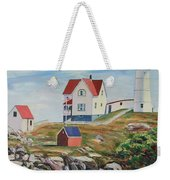 Nubble Light House Maine Weekender Tote Bag