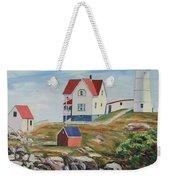 Nubble Light House Maine Weekender Tote Bag