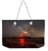 Nubble Light Milky Way Rising Weekender Tote Bag