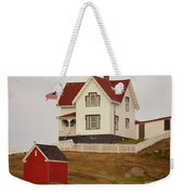 Nubble Lighthouse Shed And House Weekender Tote Bag