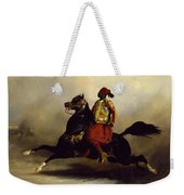 Nubian Horseman At The Gallop Weekender Tote Bag