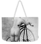 Nude And Bicycle, C1885 Weekender Tote Bag