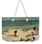 Nude Bathers On The Beach Weekender Tote Bag
