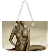 Nude Blond Beauty Sepia Weekender Tote Bag