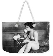 Nude Drinking Tea, 19th Ct Weekender Tote Bag