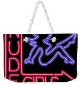 Nude Girls Neon Sign Weekender Tote Bag
