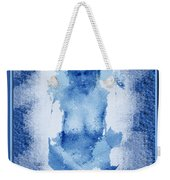 Nude In Blue Weekender Tote Bag