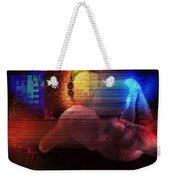 Nude In Glitchscape Weekender Tote Bag