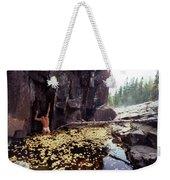 Nude Standing In A Leaf Pool  Weekender Tote Bag