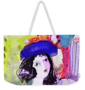 Nude With Flower Hat Weekender Tote Bag