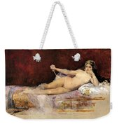 Nude Woman On An Ottoman Weekender Tote Bag