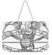Nude Woman With The Zodiac Weekender Tote Bag