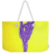 Nude Yoga Girl Violet Weekender Tote Bag