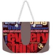 Number 0 Weekender Tote Bag