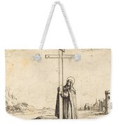 Nun Embracing The Holy Cross Weekender Tote Bag