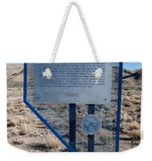 Nv-142 Old Spanish Trail Mountain Springs Pass Weekender Tote Bag