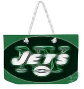 Ny Jets Fantasy Weekender Tote Bag by Paul Ward