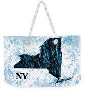 Ny State Map  Weekender Tote Bag
