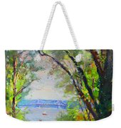 Nyack Park A Beautiful Day For A Walk Weekender Tote Bag by Ylli Haruni
