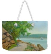 Nyack Trail Along The Hudson Weekender Tote Bag