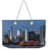 Nyc And Staten Island Ferry Weekender Tote Bag