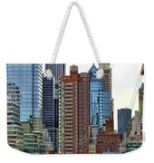 Nyc Architecture Buildings Tall  Weekender Tote Bag
