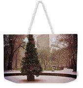 Nyc Christmas Weekender Tote Bag