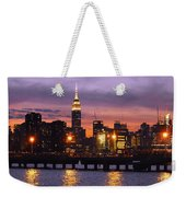 Sunset City Lights Weekender Tote Bag